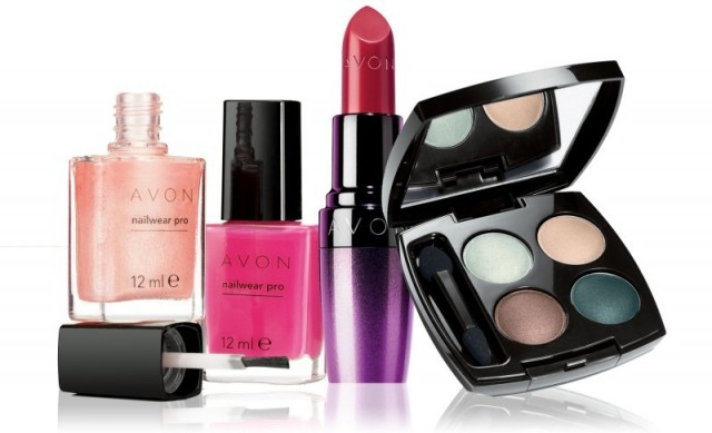 Picture showing AVON cosmetic products