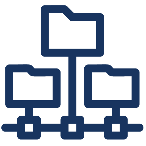 Asset Hierarchy Management icon blue