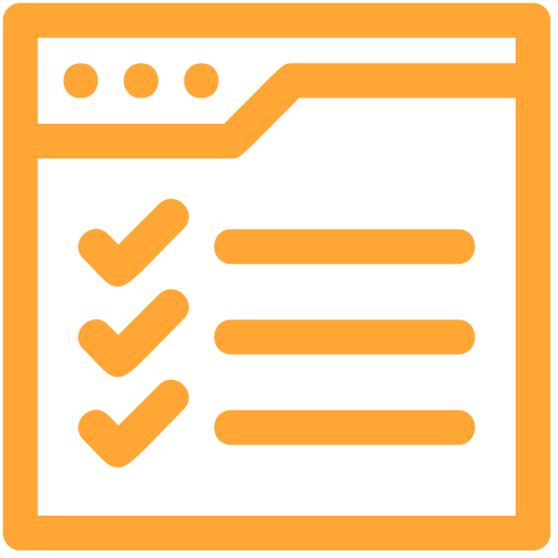 Work Management icon orange