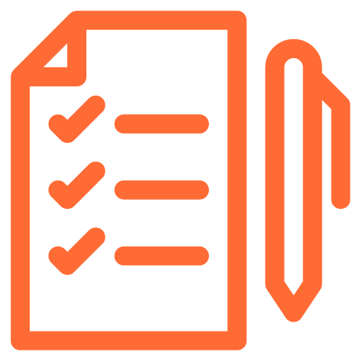 Project Management icon orange