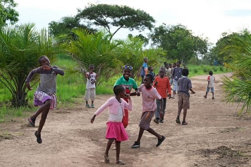 Children playing in Africa